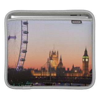 Houses of Parliament & the London Eye iPad Sleeve