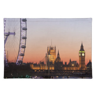 Houses of Parliament & the London Eye Placemat