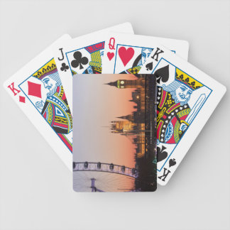 Houses of Parliament & the London Eye Poker Deck
