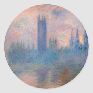Houses of Parliament, Westminster by Claude Monet Round Sticker