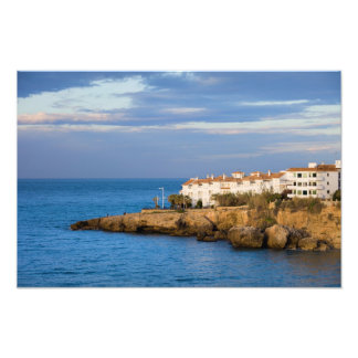 Houses on a Mediterranean Sea Cliff in Nerja Photograph