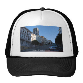 Houses on a street in San Francisco, California Trucker Hats