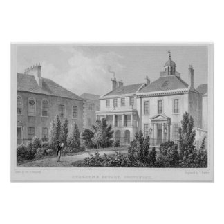Houses on Surgeons' Square, Edinburgh Poster