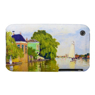 Houses on the Achterzaan, 1872 Claude Monet Case-Mate iPhone 3 Cases
