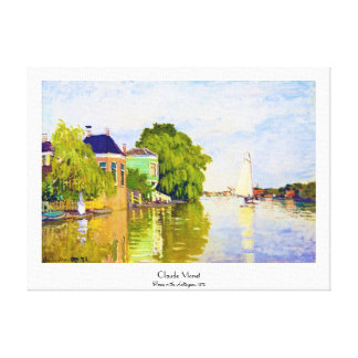 Houses on the Achterzaan, 1872 Claude Monet Gallery Wrap Canvas
