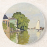 Houses on the Achterzaan - Claude Monet Drink Coasters