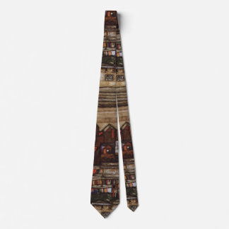 Houses with Laundry by Egon Schiele Tie