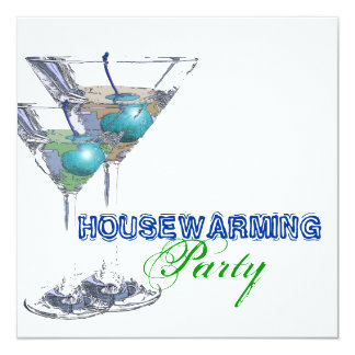 Housewarming dinner cocktail party CUSTOMIZE Card