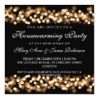 Housewarming Party Gold Hollywood Glam Card