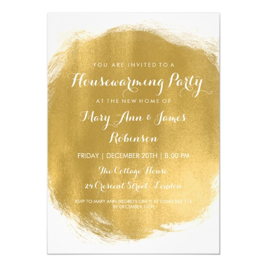 Housewarming Party Gold Paint Look Card