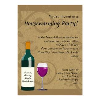 Housewarming Party Invitations Wine Theme