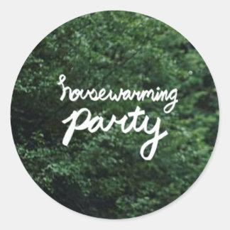 HOUSEWARMING PARTY Logo Sticker