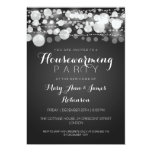 Housewarming Party Modern Dots Black Personalised Invites