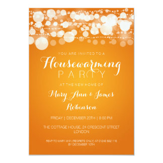 Housewarming Party Modern Dots Orange Card