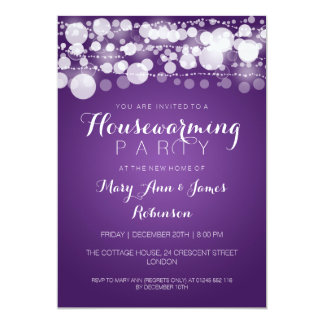 Housewarming Party Modern Dots Purple Card