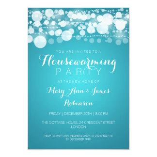 Housewarming Party Modern Dots Turquoise Card