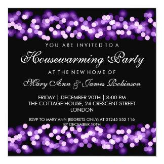 Housewarming Party Purple Hollywood Glam 13 Cm X 13 Cm Square Invitation Card
