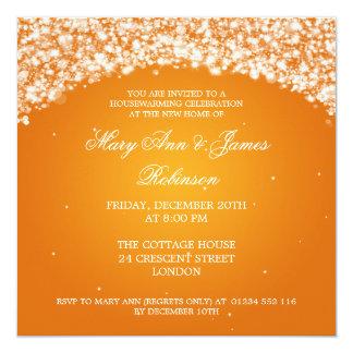 Housewarming Party Sparkling Arch Orange 13 Cm X 13 Cm Square Invitation Card