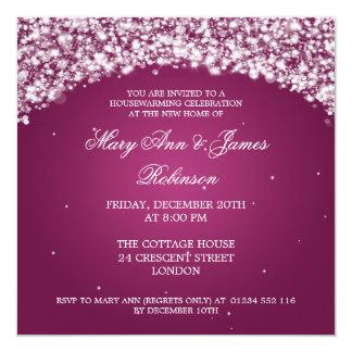 Housewarming Party Sparkling Arch Pink 13 Cm X 13 Cm Square Invitation Card