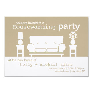 Housewarming Party - White Living Room Card