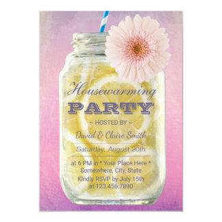 Housewarming Summer Lemonade Mason Jar Watercolor Card