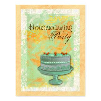 Housewarming tea birthday celebration invitation postcards