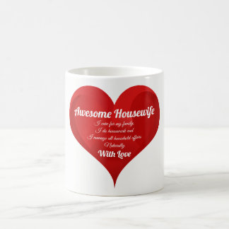 Housewife Pride Typography Heart Love Quote Coffee Mug