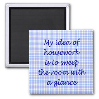 Housework Square Magnet
