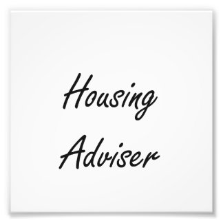 Housing Adviser Artistic Job Design Photo