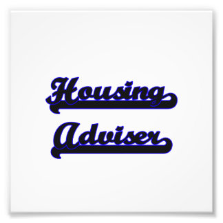 Housing Adviser Classic Job Design Photo Print
