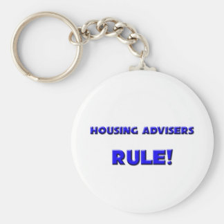 Housing Advisers Rule! Basic Round Button Key Ring