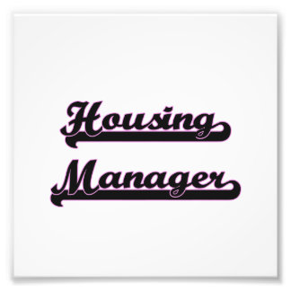 Housing Manager Classic Job Design Art Photo
