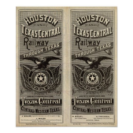 Houston and Texas Central Railway through Texas 2 Poster