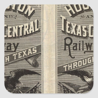 Houston and Texas Central Railway through Texas 2 Square Sticker