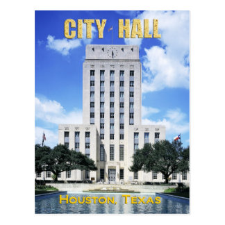 Houston City Hall, Texas Postcard