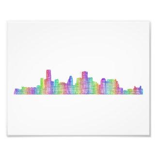 Houston city skyline photo print