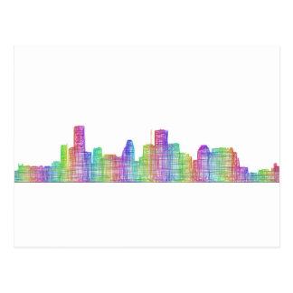 Houston city skyline postcard