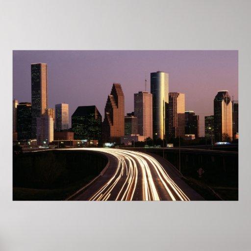 Houston City Skyline Poster FROM 8.99