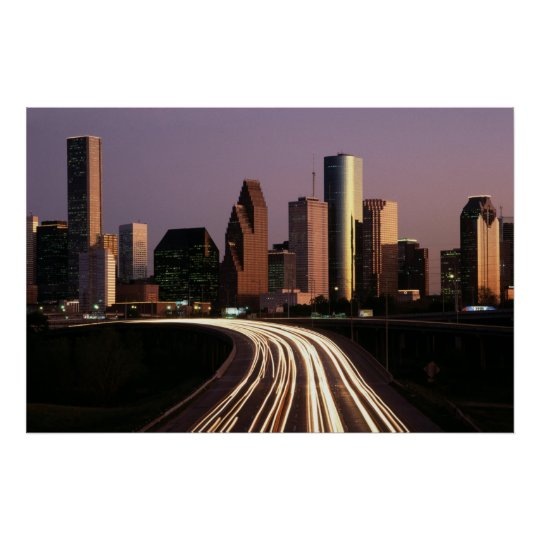 Houston City Skyline Poster FROM 8.99