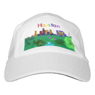 Houston City Skyline Rainbow Colors LGBT Custom Hat