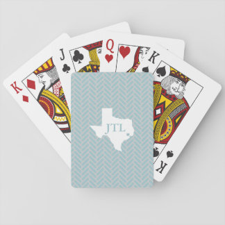 Houston Custom Initials Playing Cards