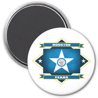 Houston Diamond 7.5 Cm Round Magnet