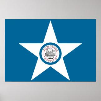 Houston Flag Poster