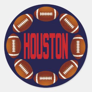 HOUSTON FOOTBALL CIRCLE ROUND STICKER