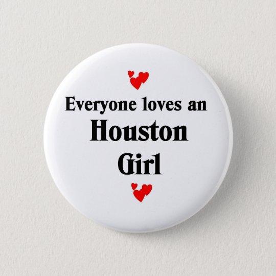 Houston Girl 6 Cm Round Badge