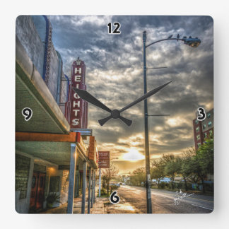 Houston Heights 19th Street Square Wall Clock