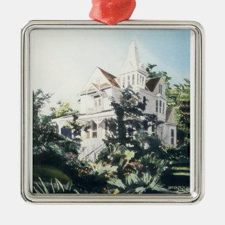 Houston Heights Watercolor, 1896 Harvard Street 2 Christmas Ornament