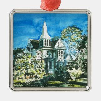 Houston Heights Watercolor, 1896 Harvard Street Christmas Ornament
