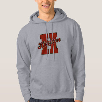 Houston Letter Hooded Pullovers