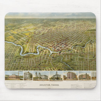 Houston Map 1891 Mouse Pad